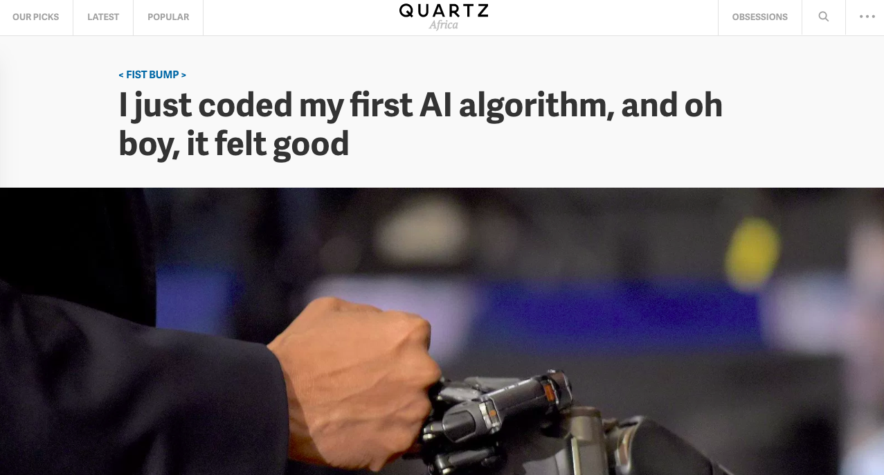 QZ my first AI Algorithm